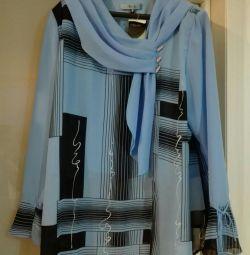 Bluză nouă, dimensiune 54-56, tunică, sacou.