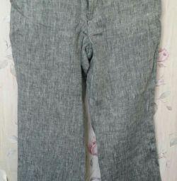 Лляні штани на 7-9 років