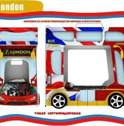 Кроватка-автобус Лондон