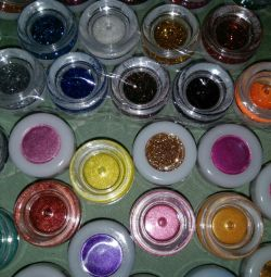 Eyeshadows and glitter for eyelids