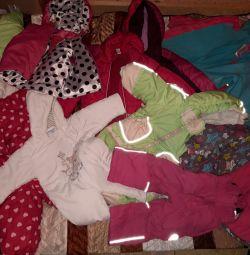 Χειμερινό σακάκι και φόρμες για παιδιά