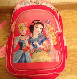 School backpack for a girl.