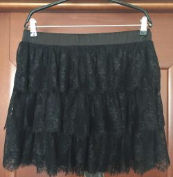 Skirt new Paole Conte lace black size 46 M