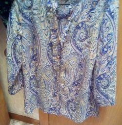 Шелковая блузка подростковая
