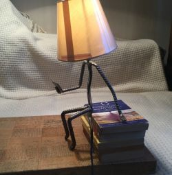 Table lamp Man with a book