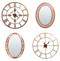 Solid wood mirror