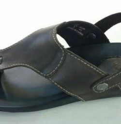 Leather sandals size 44