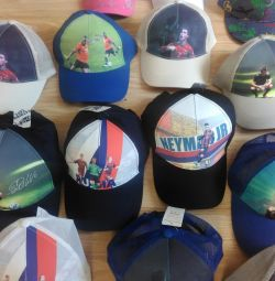 Caps with football players