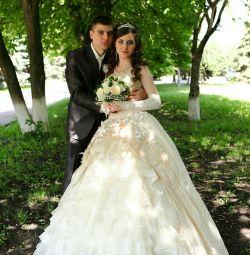 Свадебное платье + перчатки