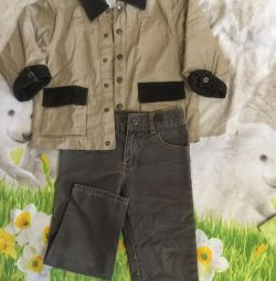Suit (koton) and trousers (fleece) for 2-3 years