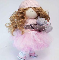 Интерьерная кукла из ткани.  Ручная работа.