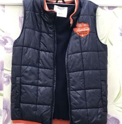 Warm vest for a boy