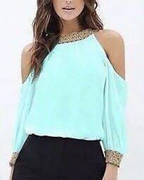 Tender mint blouse