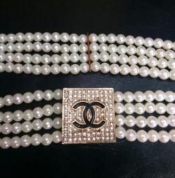 Curea elastică nouă de perle
