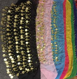Chiffon shawls for oriental dances
