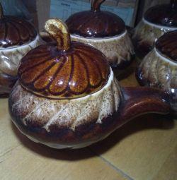 6pcs roasting pots