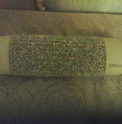 Подушка-валик оздоровча з турмаліном. Нова.