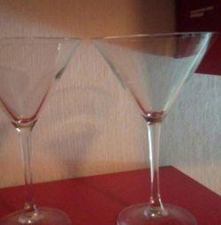 Wine glasses - martini glasses