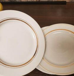 6 pcs USSR plates