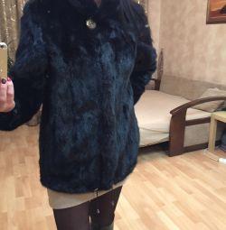 Fur coat mink r. 42-44
