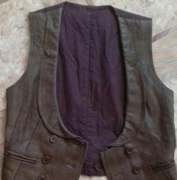 Waistcoat Leather