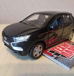 Car model Lada XRay Black