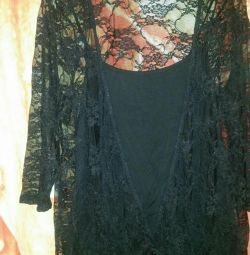 Topic with lace blouse