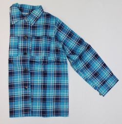 Shirt flannel to the boy, NEW
