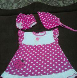 Φόρεμα - σύνολο για 1,5 - 2 χρόνια