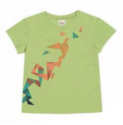 T-shirt Origami, ανοιχτό πράσινο, καινούριο