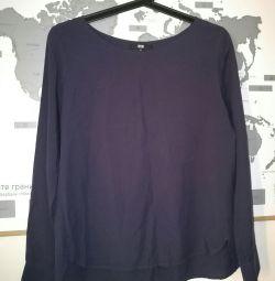 Blouse uniqlo blue color size xs