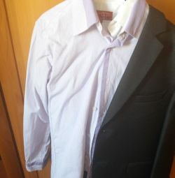 Κοστούμι με πουκάμισο Γκρι Νέο