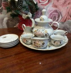 12 item Coffee houses porcelain set. Trading is appropriate.
