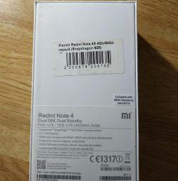 Cutia de la telefon Xiaomi Redmi Nota 4X