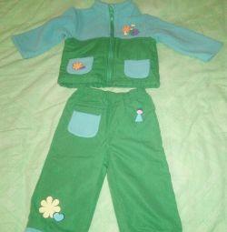 Copii costum de fleece12-18 luni.