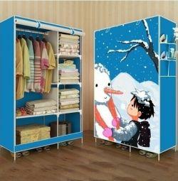 Детский тканевый шкаф