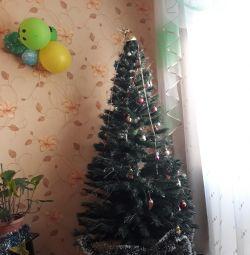 Τεχνητό χριστουγεννιάτικο δέντρο, λαμπερό 2 μέτρα