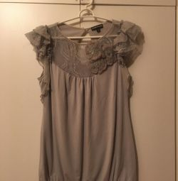 Блузка х/б с гипюром Италия 46-48 размер