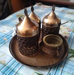 Nikel gümüşünden baharat için ayarla