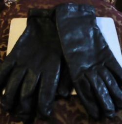 Gloves! Leather. 9-10 fold.