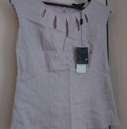 Новая блузка льняная 42-44