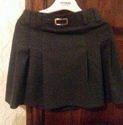 School gray skirt