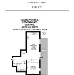 BRAND NEW SPACIOUS 1 BEDROOM WITH PRIVATE BALCONY, FURNISHED IN CEDARSIDE APARTMENTS, QUEENS PARK