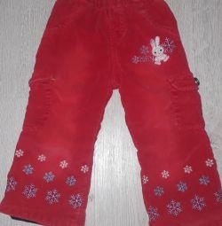 Corduroy pants 86 p.