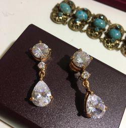 Σκουλαρίκια σε μαγνήτες τιτανίου για χρυσό