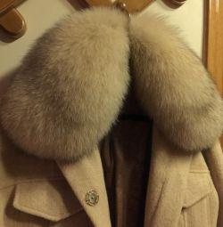 Новая куртка шерсть сукно песец