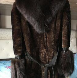 Muton γούνινο παλτό με γούνα αλεπού, p46