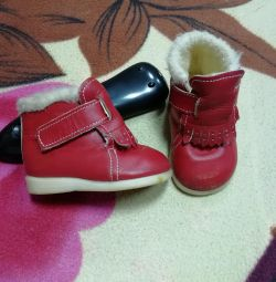 Shoes 12cm natures. leather and sheepskin spring autumn