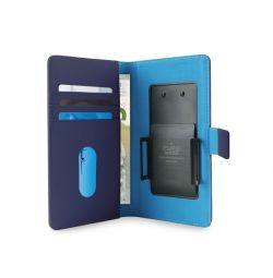 "Puro Universal Wallet Case Sliding up to 5.1"" Blue"