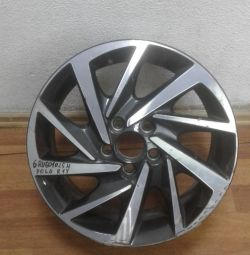 Alloy wheel Volkswagen Polo R15 oem 6ru601025h (dent) (cl-3)